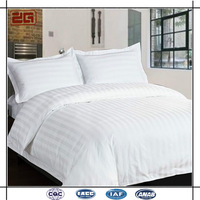 Elegant Theme Hotel 250T 40*40S Polyester Cotton Hotel Bedding Set Hotel Bed Sheet