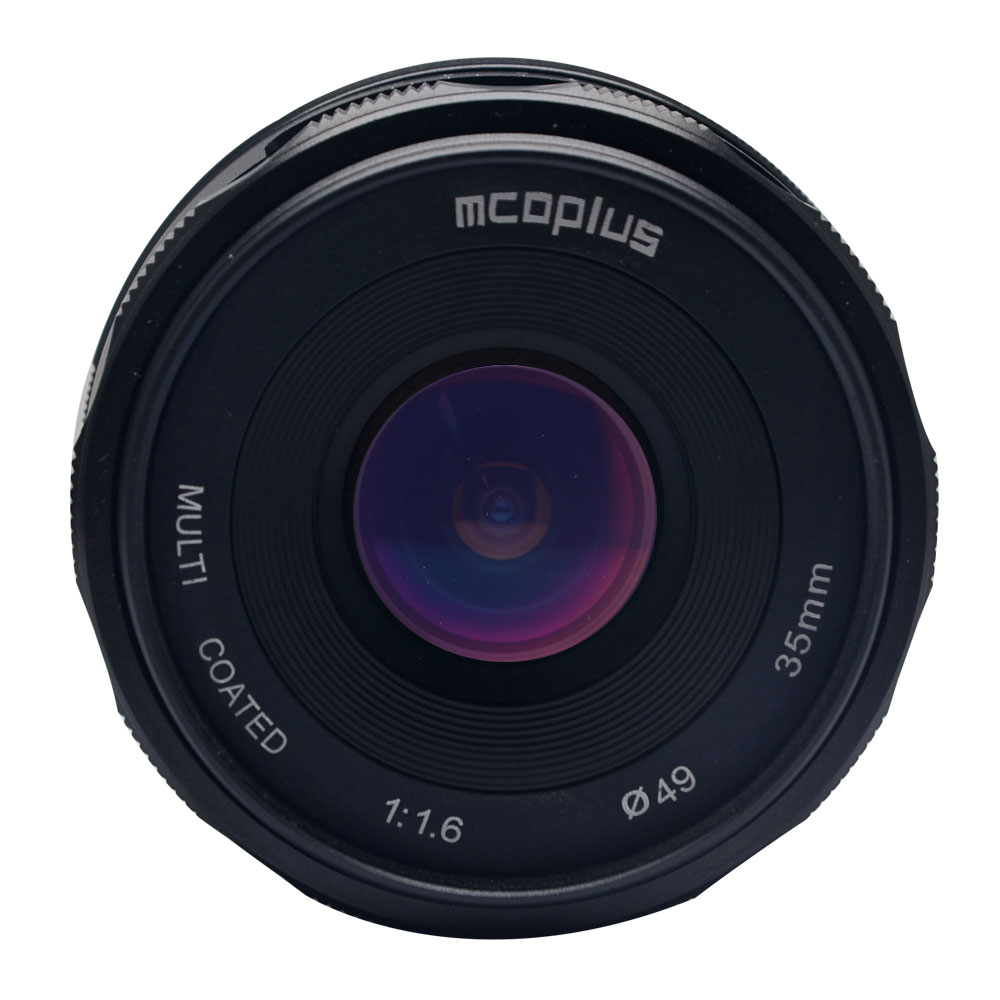 new arrival mcoplus 35mm f1.6 mirroless camera lens A5000/A5100/A6000/A6100/A6300