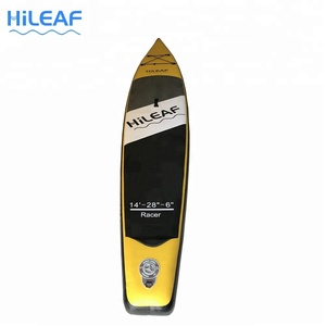 HILEAF 14' Size Inflatable Racing Usage Surfing Paddle Boards with Paddles