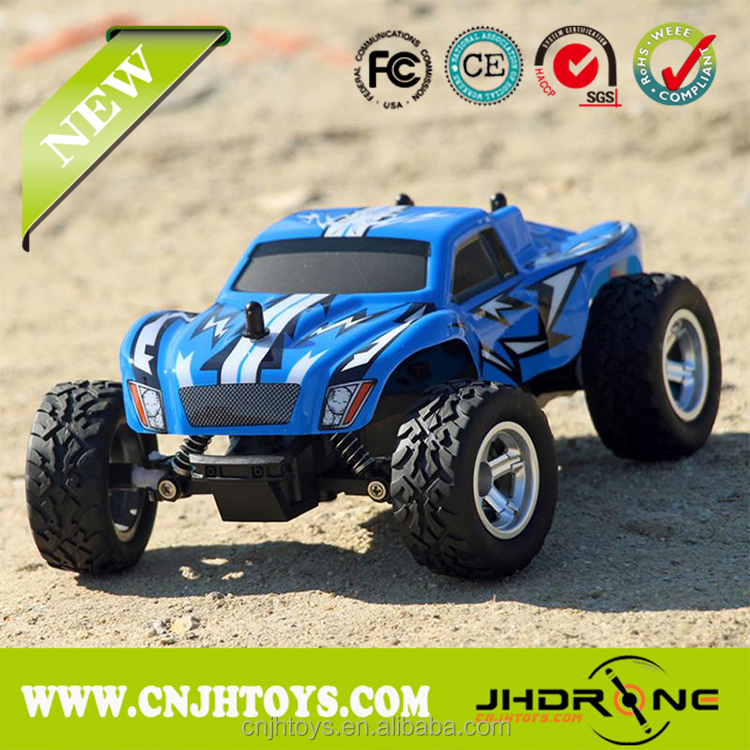 1:24 2.4G High Speed Monster Truck 15km/h Radio Controlled Electric Vehicle 2WD Racing Buggy RC Car for Kids