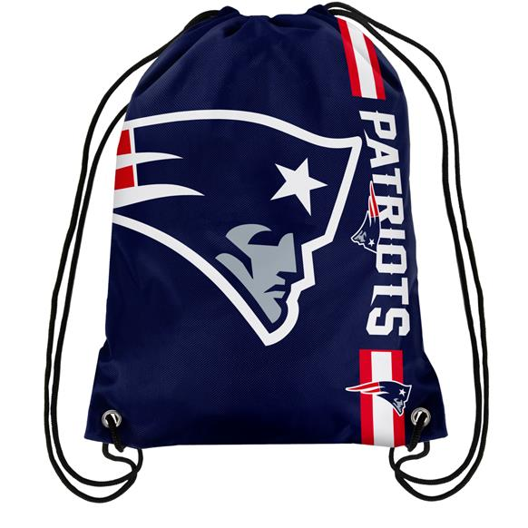 Hot Sale Digital Printing Customize Advertising Bags 35*45cm New England Patriots Polyester Knitted Warp Drawstring Bags Pouch