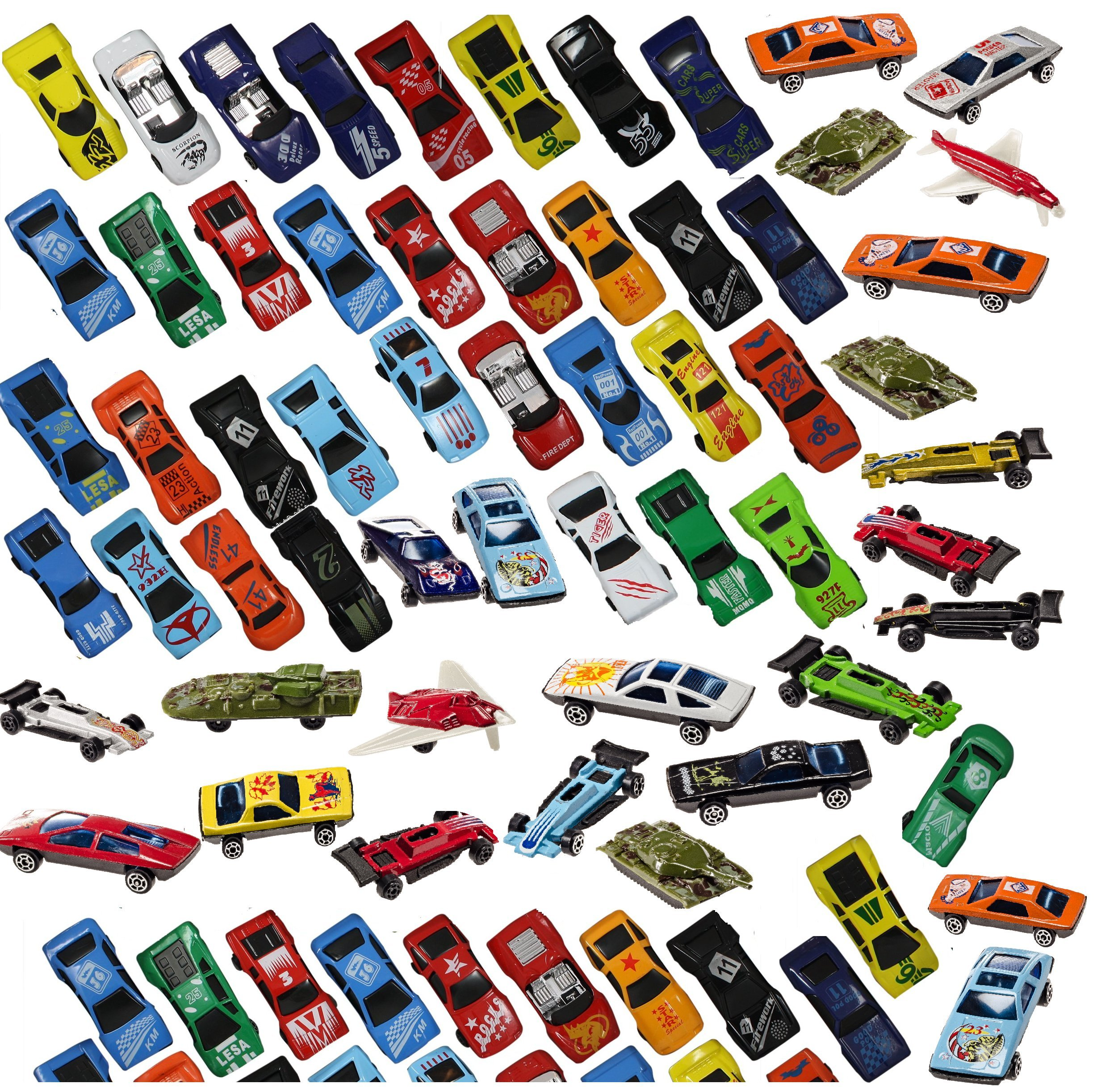 Prextex 100 Pc Cast Toy Cars Party Favors Easter Eggs Filler Or Cake Toppers Stocking