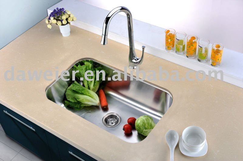 ES281609 Stainless Steel undermount single kitchen sink Extra Large bowl