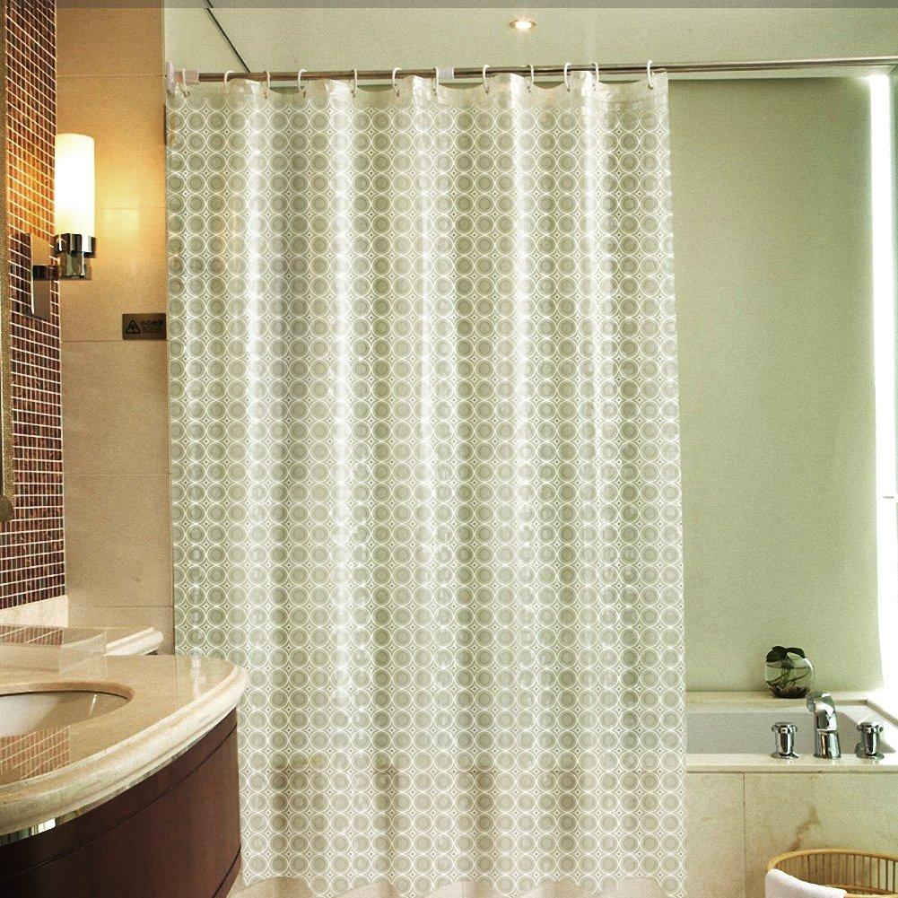 3D Shower Curtain VOLADOR 72 X Inch Waterproof Bathroom Heavy Duty