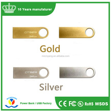 Free sample luxury stainless steel metal mini usb flash disk for gifts