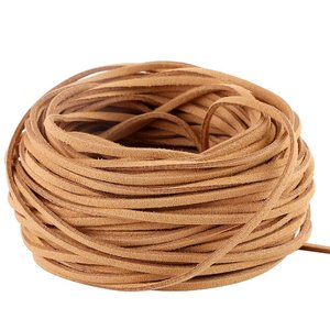 Factory wholesale flat leather braided cord for bags
