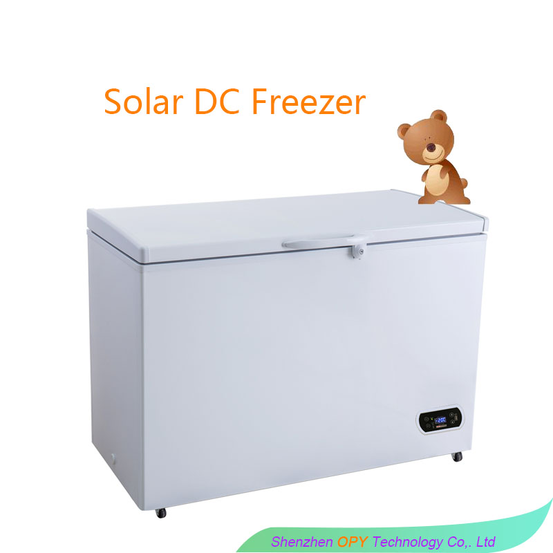 200L 12V dc solar powered deep freezer