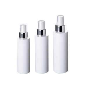 Clear Cap Popular White and Silver PET Mist Pump Bottle 100ml 150ml Plastic PET Spray Bottle 200ml