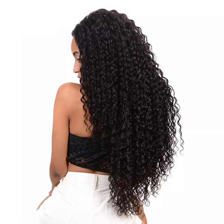 Cheap Best Quality Grade Full Lace Deep Curly Wave Wig Virgin Brazilian Human Hair Glueless Curly Front Lace Wigs