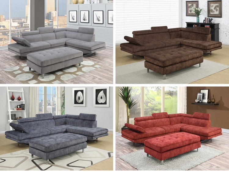 Modern Living room Furniture Fabric Corner Sofa Designs Small I Shaped Sofa 97820