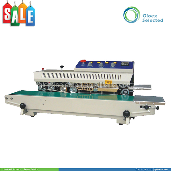 Plastic Stand-up Pouch new style 45kg coding continuous band sealing machine