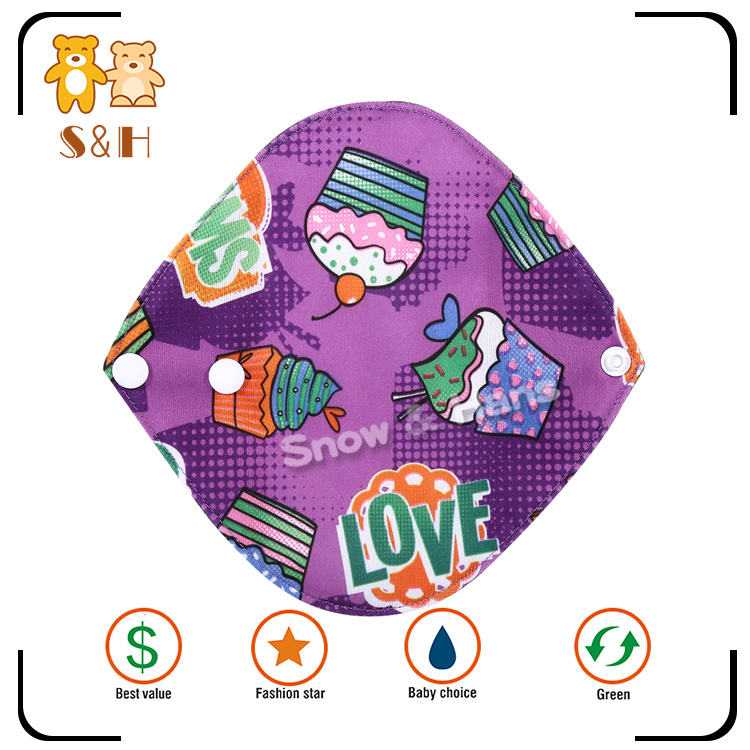 Absorbent Reusable Sanitary Towels with Top Quality