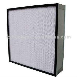 China suppliers for H13,H14 Mini Pleat HEPA Filter for laminar air flow hoods