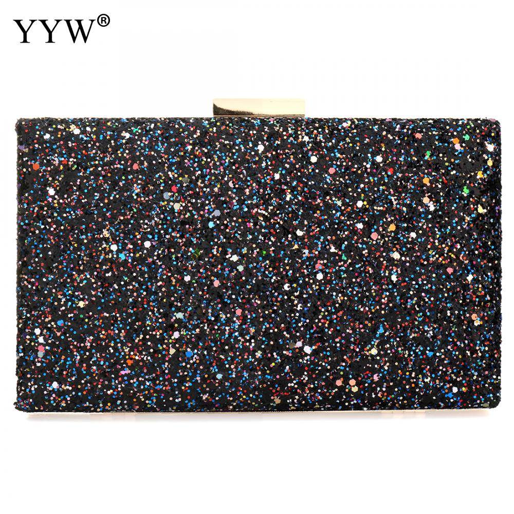 a069dc06e Compre YYW Mulheres Saco De Lantejoulas De Plástico Sacos De Caixa ...