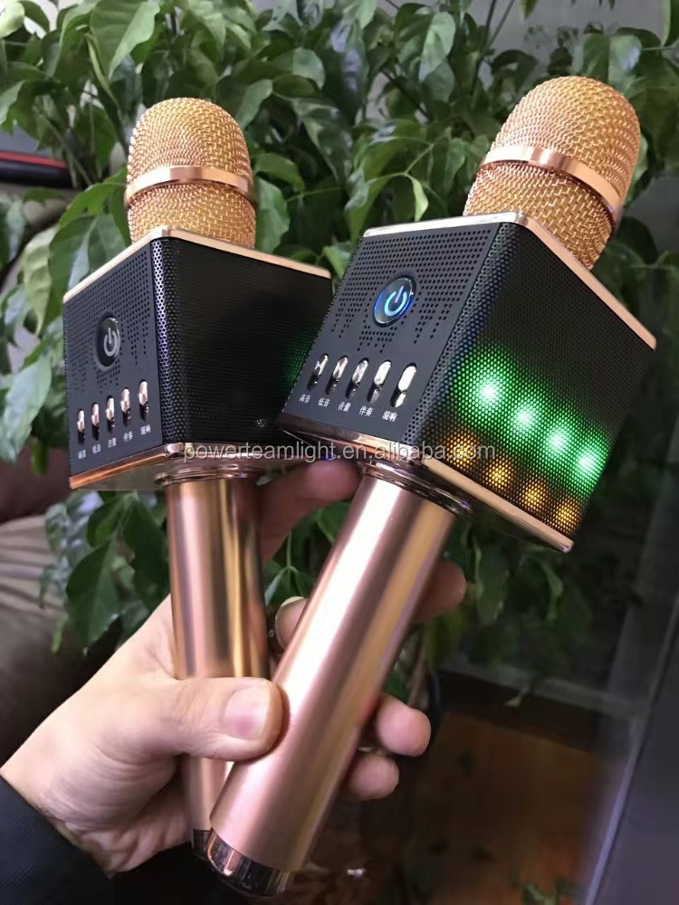 hot selling original H8 Bluetooth Karaoke Microphone with LED