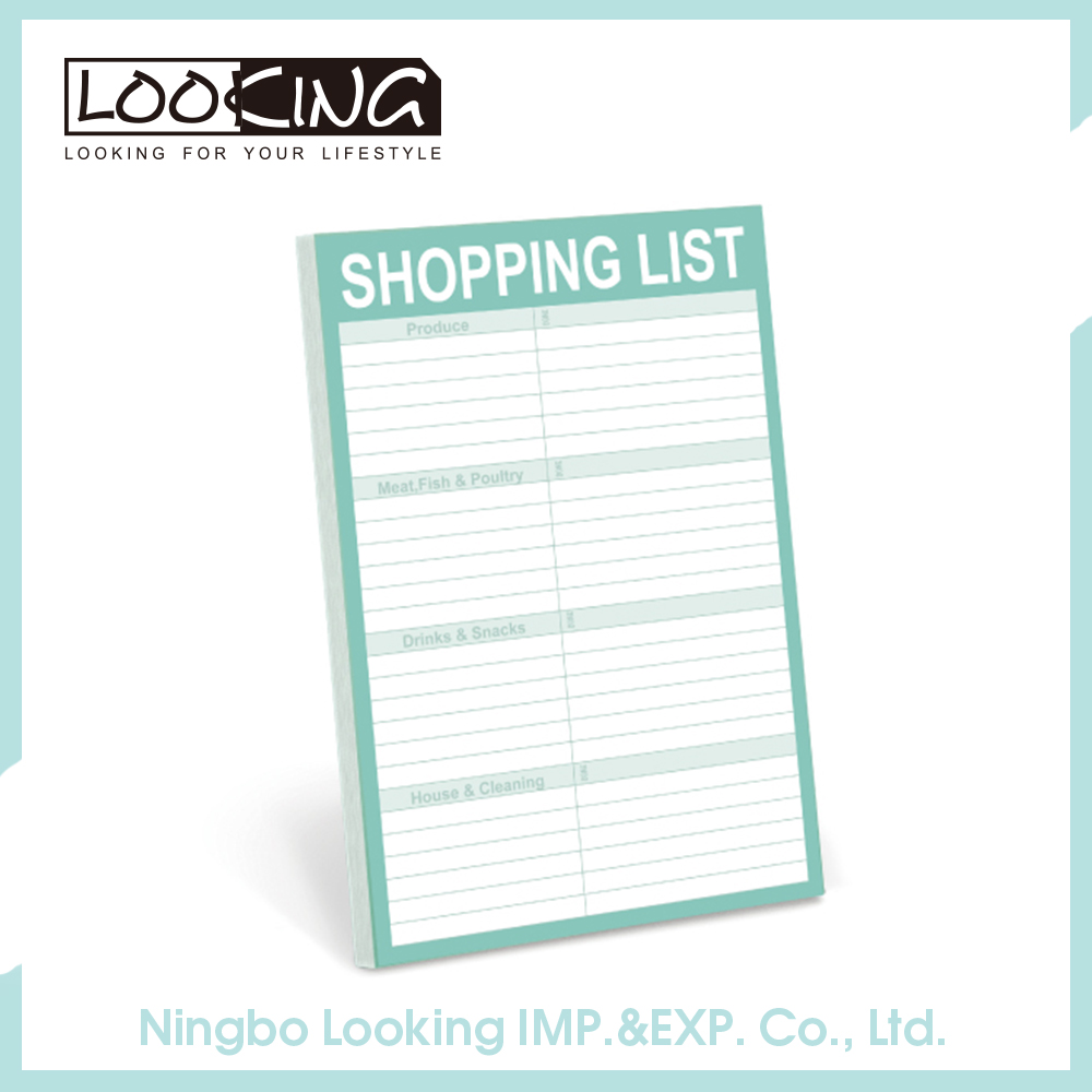 LOOKING 50 Sheets Magnetic Shopping List Notepad