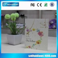 Promotional price Full color printing music voice recording valentines day greeting card