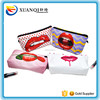 New design ladies make up bag red lip print purse red lip cotton cosmetic bag