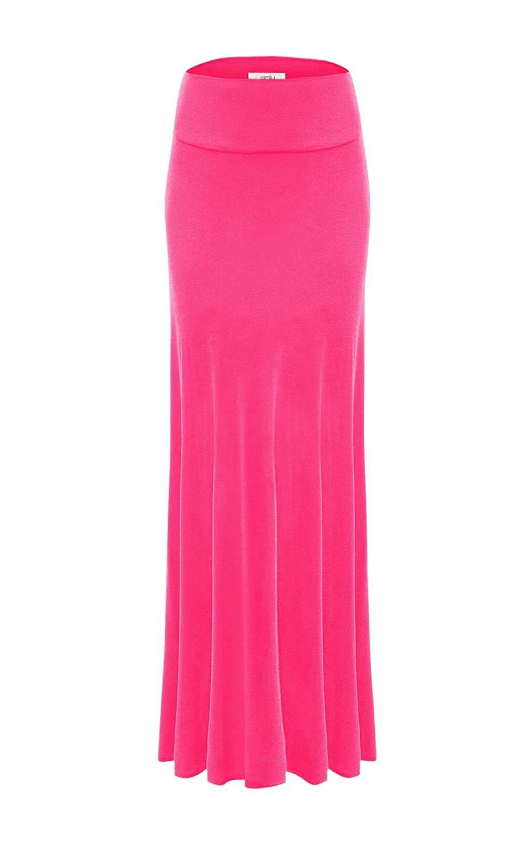 ec83aa685 Get Quotations · Fuchsia Skirt Rayon Maxi Skirt Flared, Womens Long Skirt,  Long Flowy Skirts, USA