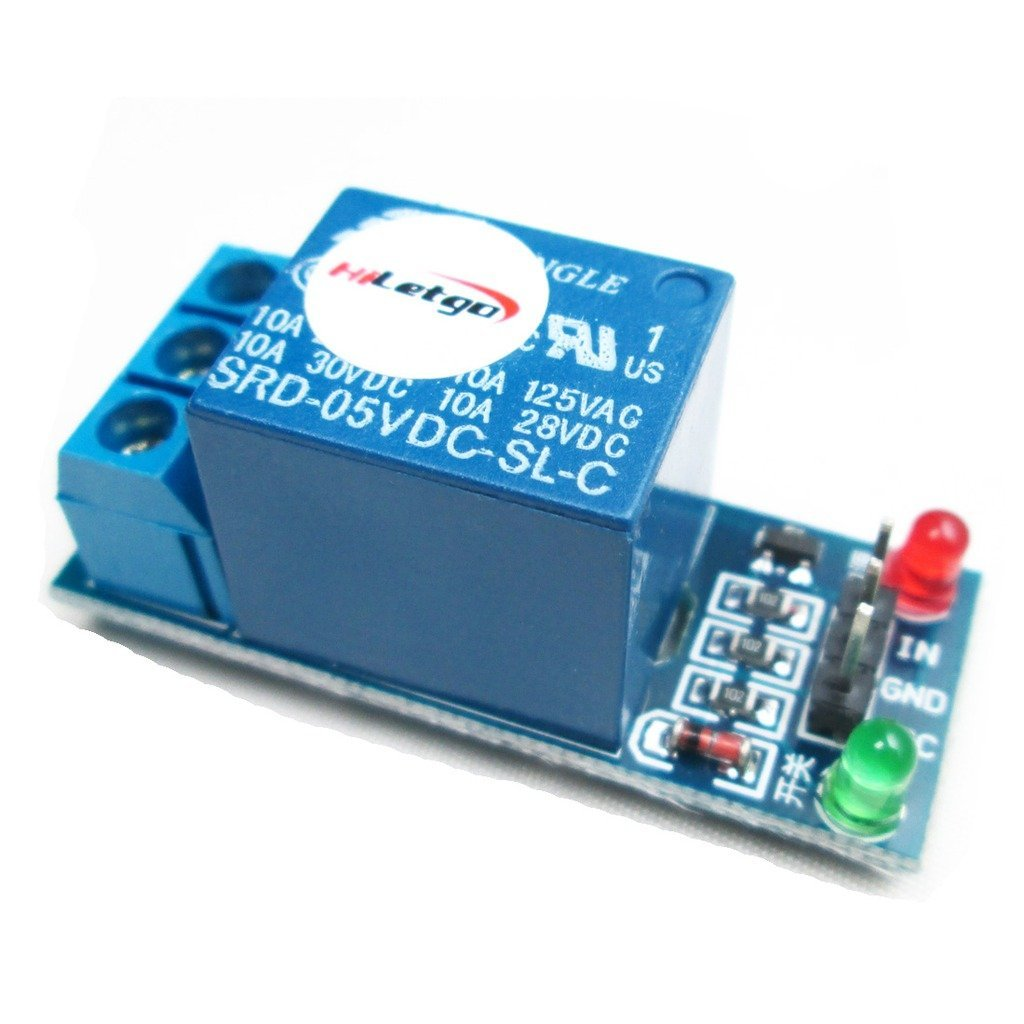 HiLetgo 5V 1 Channel Relay Module Relay Expansion Board High Level Trigger