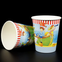 Cute cartoon design paper cups for children, water cups for children