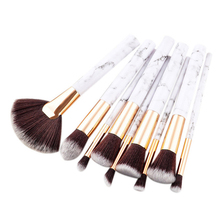 9Pcs/Set Professional Makeup Brushes Marbling Handle Eye Shadow Eyebrow Lip Eye Make Up Brush Comestic Tools