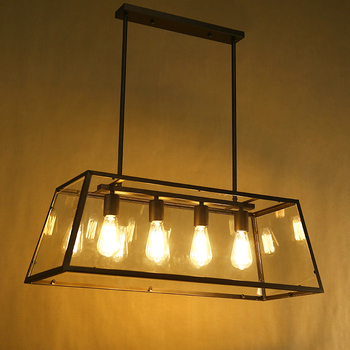 Black Vintage Pendant Light Loft Style Lights Creative Nordic Retro Lamp Spider Edison For Dining Living Room