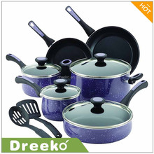 12 PCS Aluminum Non-stick porcelain enamel coating Cookware Sets