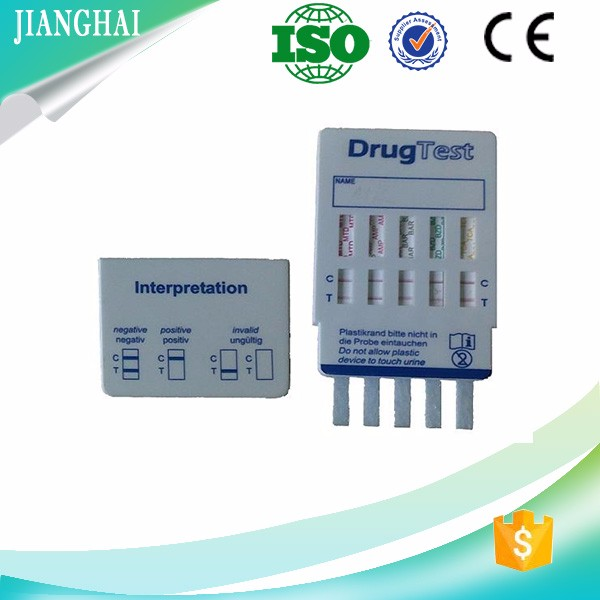 high accuracy 5 panel drug abuse Test dip card test kit