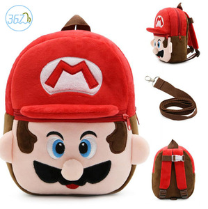 Wholesale hot sale cheap baby plush animal toy school anti-loss backpack for kids in stock can be customized