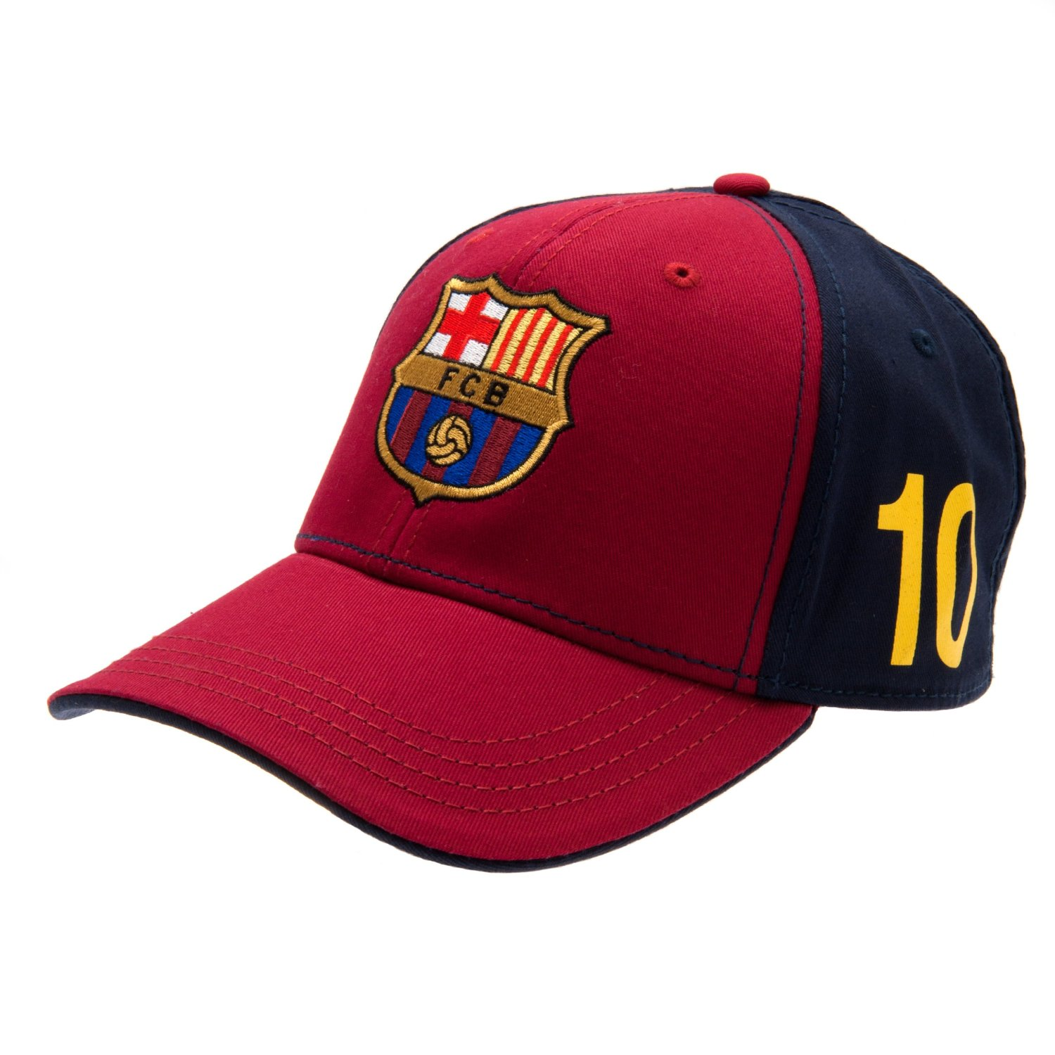 bd58d5570fd87 Get Quotations · FC Barcelona Messi Cap - Great Hat with Barcelona Team  Colors and Crest - Features