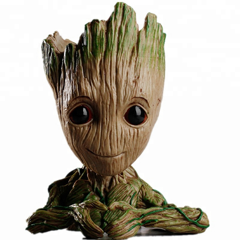 New Model Toy Guardians of the Galaxy Marvel Funko Pop Finger Heart Action Figure Baby Groot Flower Pot