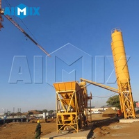 Aimix Semi-trailing mobile concrete batching plant for ongoing project