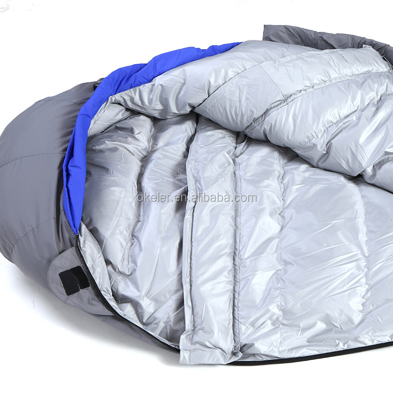 Outdoor Camping Adult Sleeping Bags for winter, Warm Down Feather Mummy Bag
