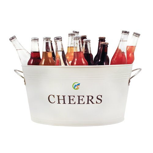 Cheers Party Galvanized Oval Tub