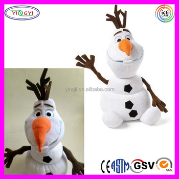 A964 White Snowman Olaf Figure Toy Doll Stuffed Soft Gift Big Olaf