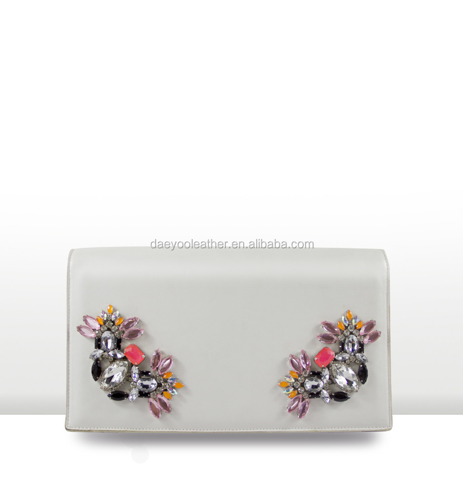 MEET-JA Latest Fashion Design Genuine Leather Clutch for Lady
