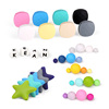 New Products Mixed Color Bulk Round Hexagon Abacus Teething Food Grade Silicone Beads Wholesale