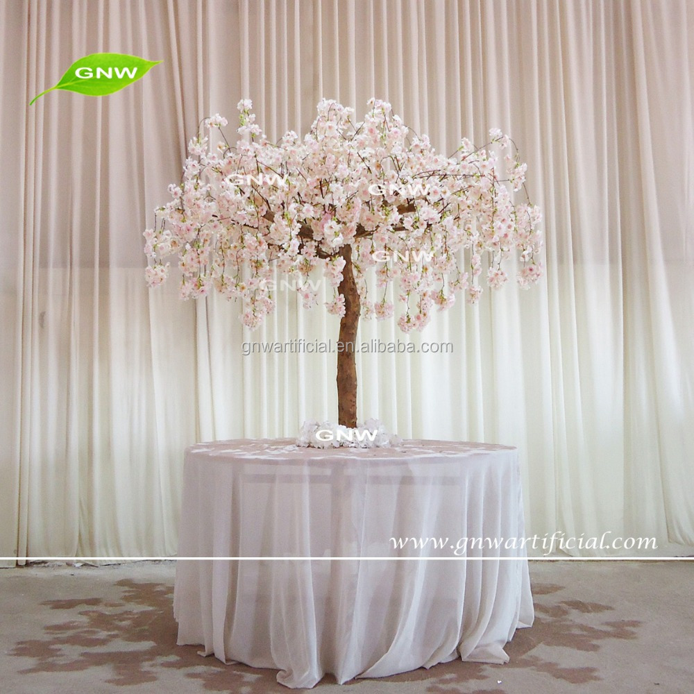 Gnw Ctr1605008 A Peach Wedding Table Tree Centerpieces Of Artificial
