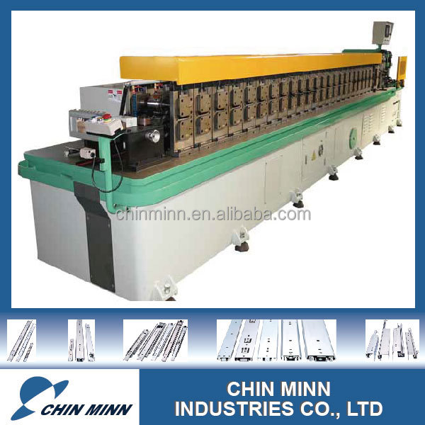Dining table extension slide roll form machine for making furniture hardware