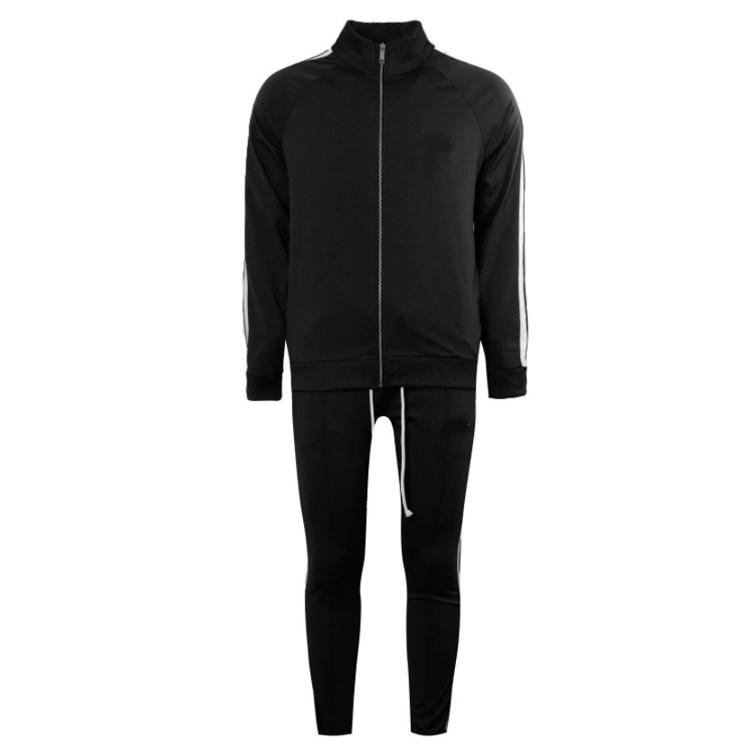 Mens cơ bắp phù hợp theo dõi suits chạy jogger mặc poly phòng tập thể dục trang phục tracksuit