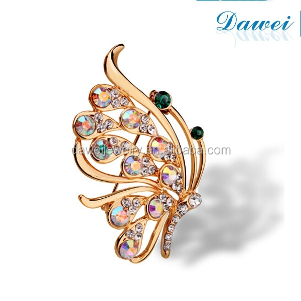 New arrivel ladies jewelry Austrian crystal brooch butterfly wedding rhinestone brooch