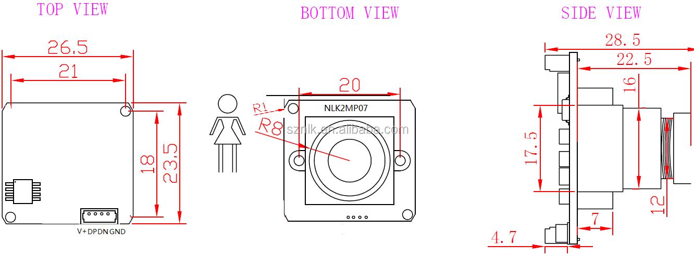 NLK-2MP07 HD 1920*1080 Nacht Vision Kamera Modul Usb