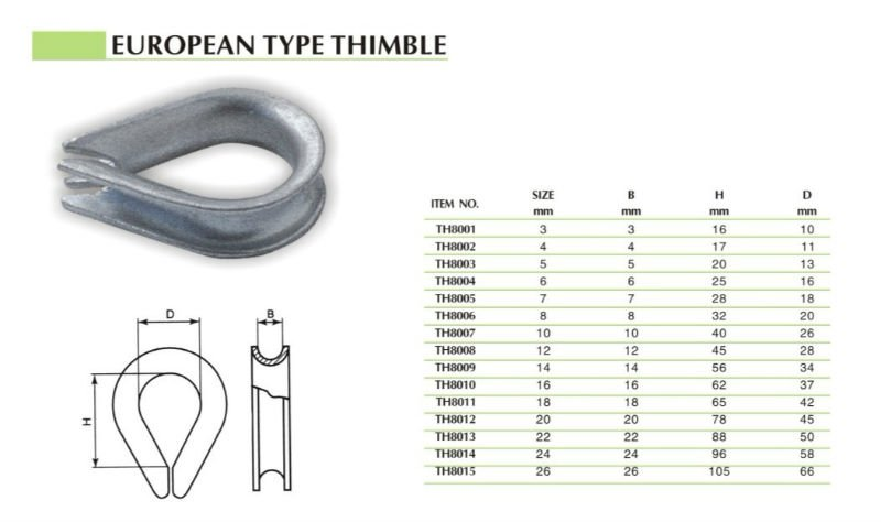 hot-dip custom cable marine thimble wire rope thimble wholesale