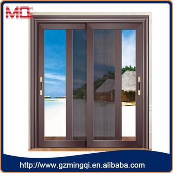 New Design Aluminium Sliding Door With Stainless Steel Mosquito Net