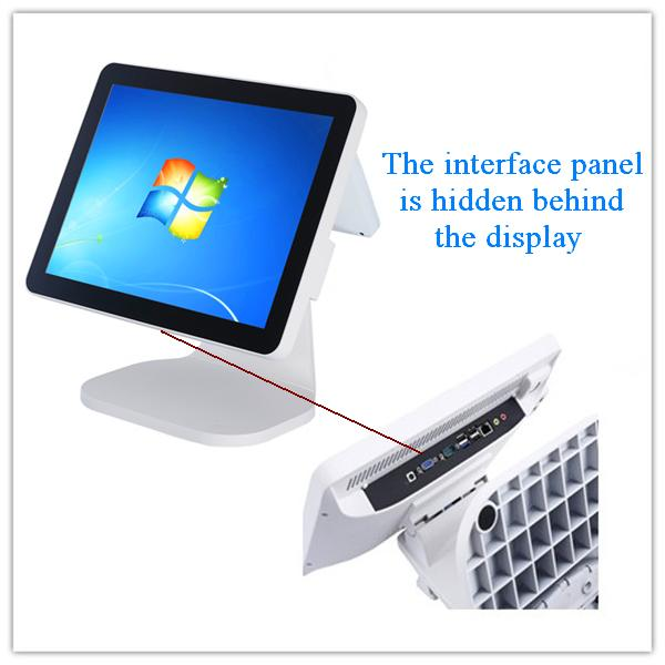 "15"" fanless touch BUS pos system/ epos terminal/pos computer"