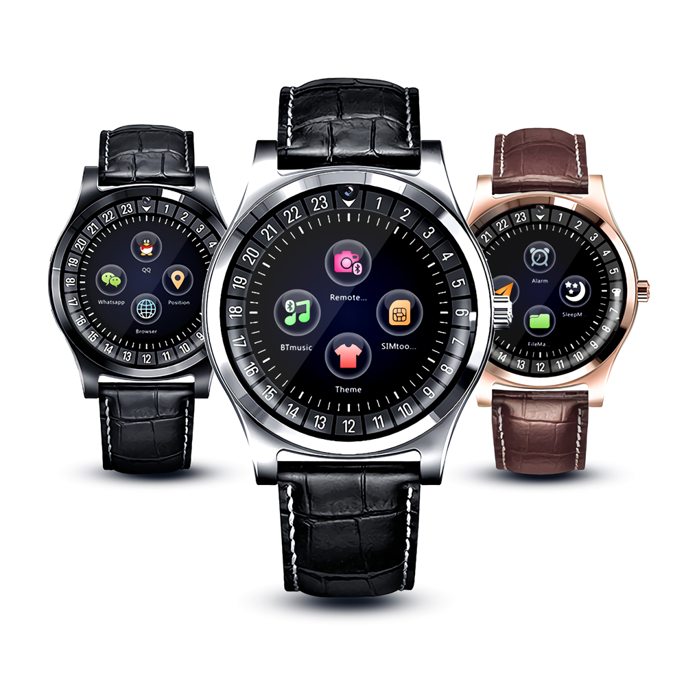 new capacitive IPS touch scree round smartwatch with <strong>sim</strong>
