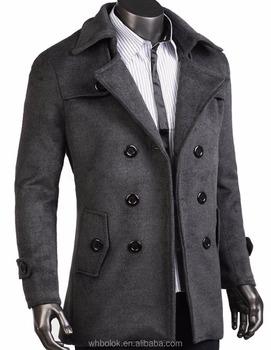 3382fc91390b Factory Wholesale New Style Men's Coat Wool Trench Coat - Buy Coat ...