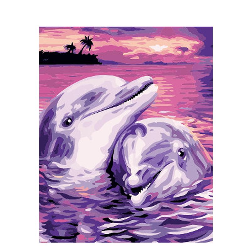 Venta al por mayor pintura de delfines-Compre online los mejores ...