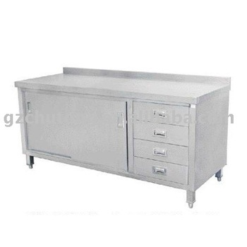 Stainless steel kitchen work table with 4 drawers buy for Stainless steel drawers kitchen